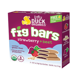 Little Duck Organics Fig Bars (Strawberry & Beet) 6 bars