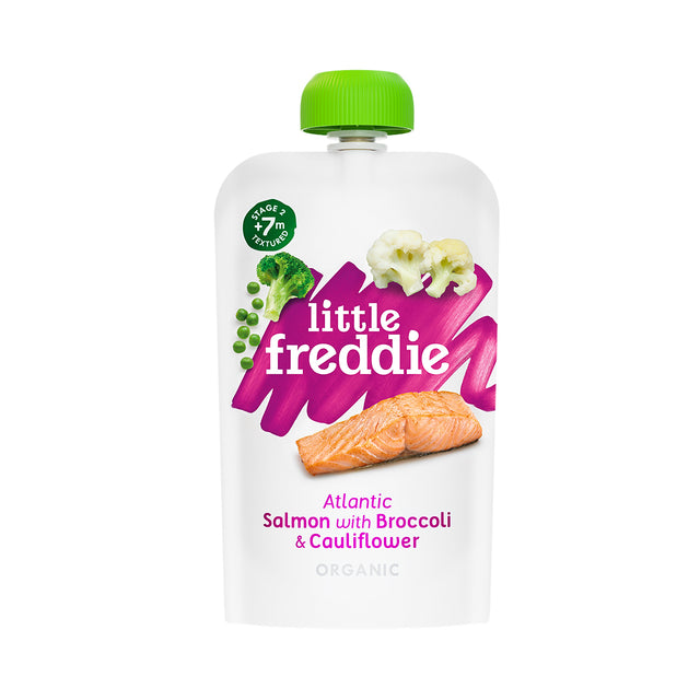 Little Freddie Salmon With Broccoli and Cauliflower Pouch