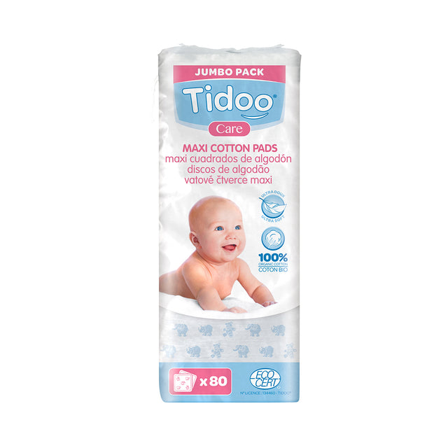 Tidoo Maxi Organic Cotton Squares | JUNE