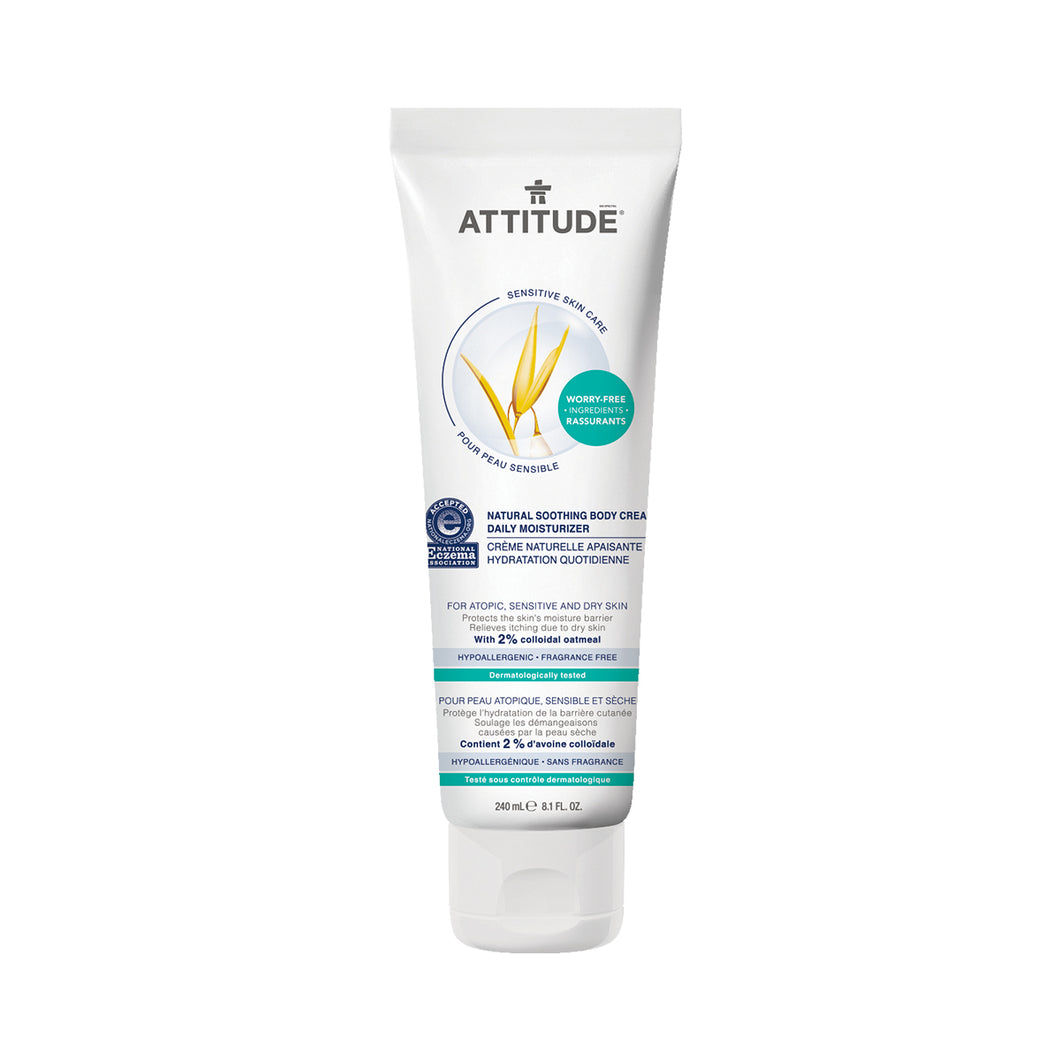Attitude Soothing Bodycream Daily Moisturizer (Fragrance-free) 240 ml
