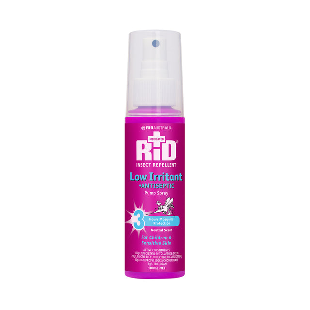 Rid Insect Repellent Spray 3 Hours Protection (Low Irritant) 100 ml