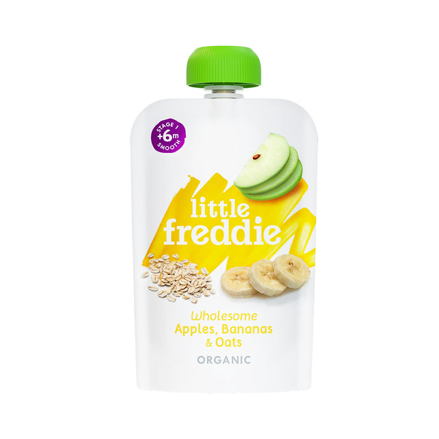 Little Freddie Apple Banana and Oats Pouch