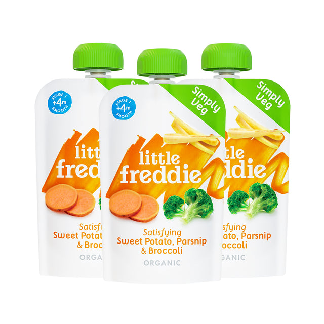 Little Freddie Sweet Potato, Parsnip and Broccoli Pouches