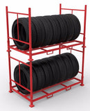 Tyre storage rack collapsible 6x truck tyres