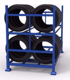 Tyre storage rack 32x car tyres storage rack safety storage australia