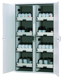 Acids and alkalis segregated divided safety storage cabinet with drawers 250L Australia