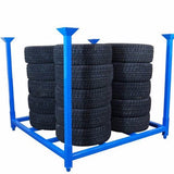 Tyre storage rack stackable multi tyre types
