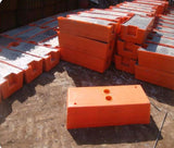 Safety Storage Australia moulded plastic feet for temporary fence panel concrete filled type used in conjunction with galvanised temporary fence panel Australia