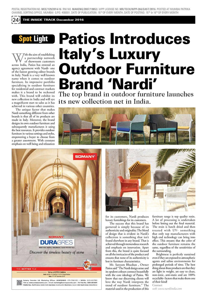 Patios Introduces Italy S Luxury Outdoor Furniture Brand Nardi