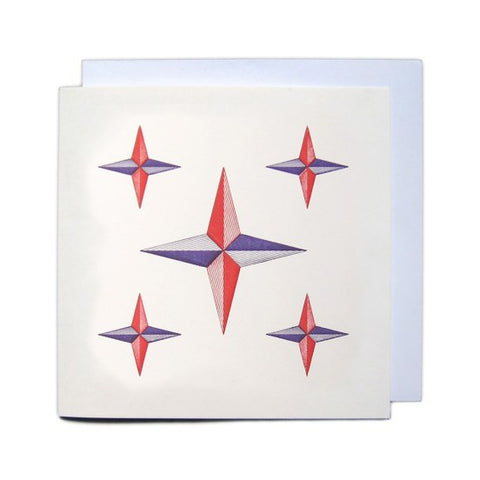 Sort: Letterpress Christmas Greetings Card - Christmas Stars