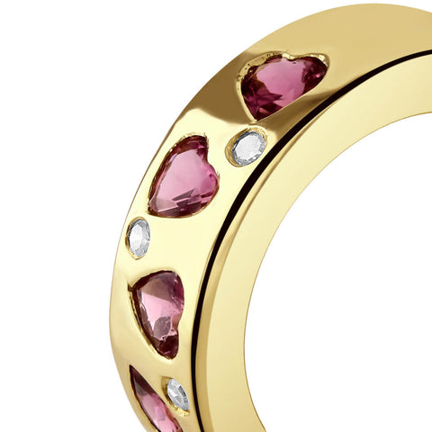 Heart Pink Tourmaline and Diamond Ring (Pre-Order)