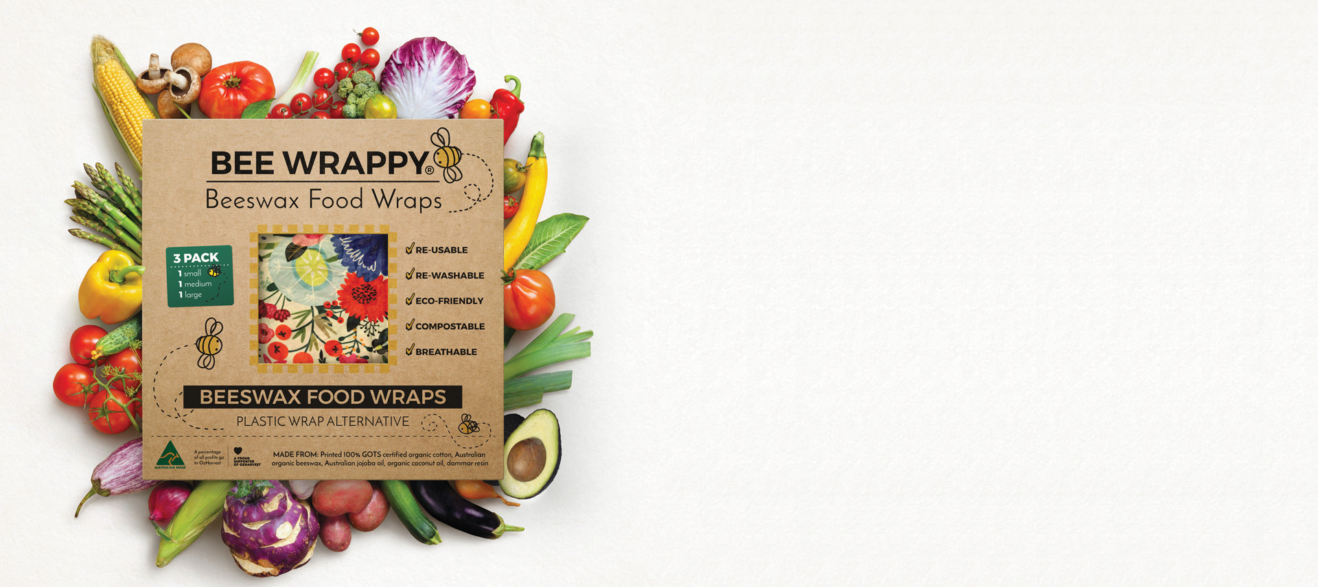 Beeswax Wraps by Bee Wrappy