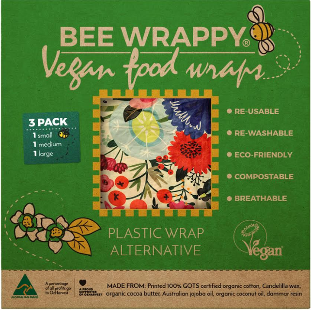 Buy Australian Beeswax Wraps that are washable, re-usable
