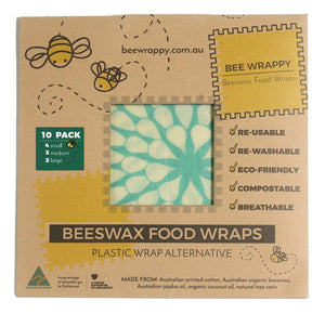 Bee Wrappy Beeswax Wraps Huge 10 Pack