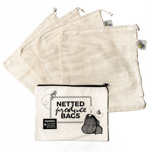 Eco Netted Produce Bags - 4 Pack