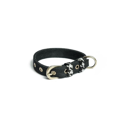 Black Denim Belt Collar