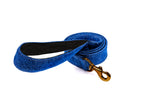 Denim with Blue Polka Leash with padded handle