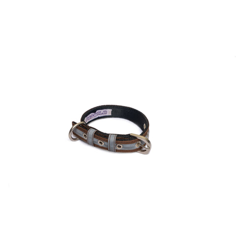 Reflective Brown Belt Collar