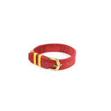 Dark Red Belt Collar