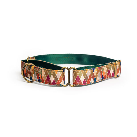 Diamond Nylon Martingale Collar