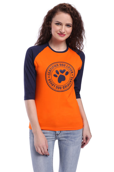Certified Dog Lover Unisex T-shirt (3/4 sleeves)