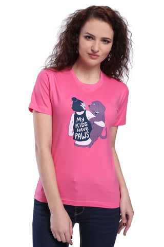 My Kids have paws Unisex T-shirt (half sleeves)