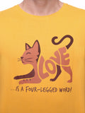 Love is a Four Legged Word (Cat) Unisex T-shirt