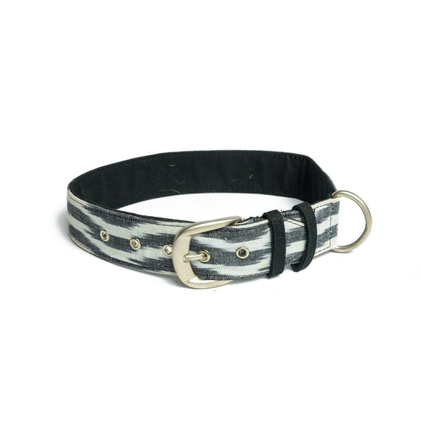 Ikat B&W Belt Collar