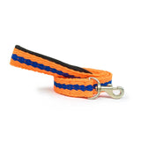 Orange with Blue Cotton Leash with padded handle