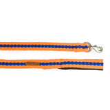 Orange with Blue Leash with padded handle