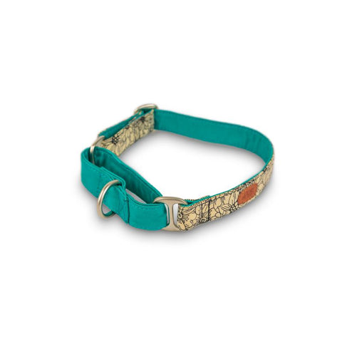 Floral Turquoise Martingale Collar