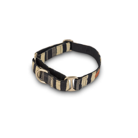 Grey Stripes Martingale Collar