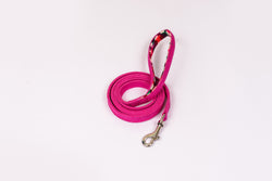 Pink Denim Leash with padded handle