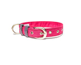 Pink with Checks Belt Collar