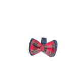 Red Checks Denim Bowtie