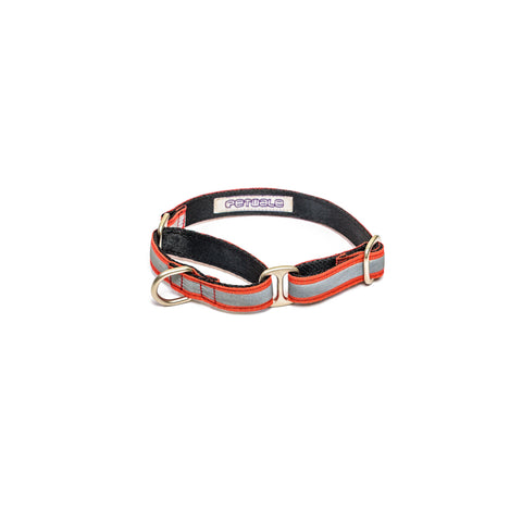 Reflective Red Martingale Collar