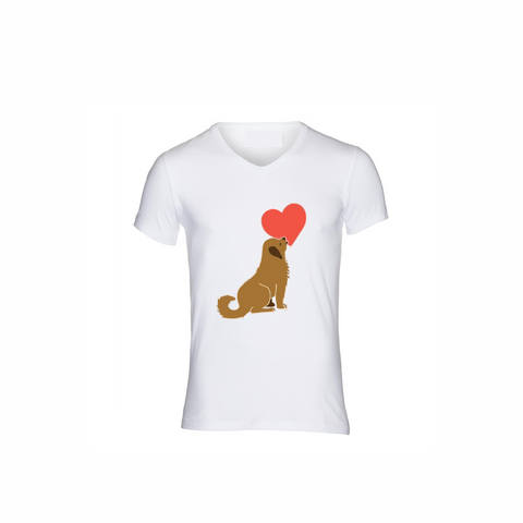 Dog licking Heart Unisex T-shirt