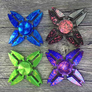 Four Corners Crab Colorful Rotating Fidget Hand Spinner - Spinners.Toys