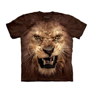 3D Big Face Roaring Lion T-Shirt