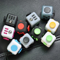 SpinnersToys™ Plastic Multicolour Stress Reliever Fidget Cube Toy - Spinners.Toys