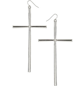 Long Cross Earrings