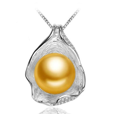 Pearl in Shell Pendant