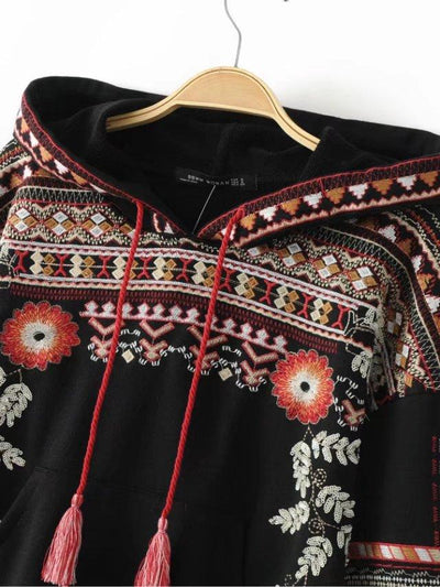 Embroidered Totem Hoody - Salezr.com