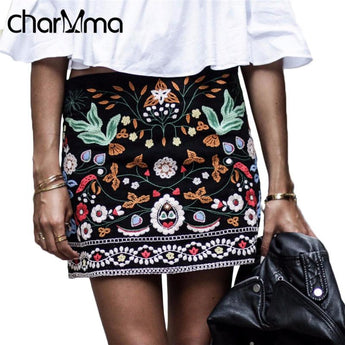 Charmma Embroidered Floral Skirts - Salezr.com