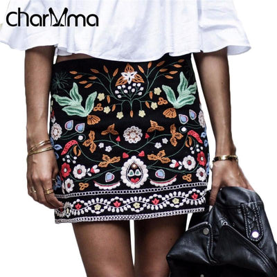 Charmma Embroidered Floral Skirts