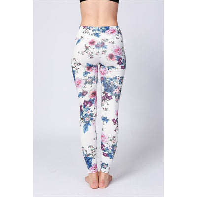 Vintage Floral Leggings - Salezr.com