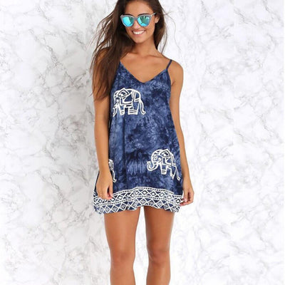 Tie Dye Elephant Dress - Salezr.com