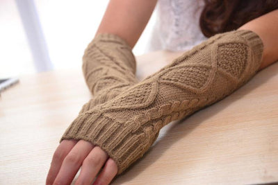 Yauvana Knitted Arm Warmers