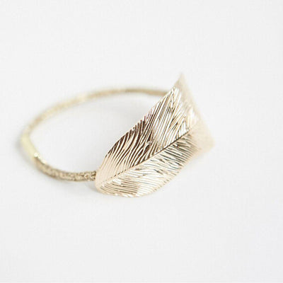 Folded Leaf Metal Hair Ties