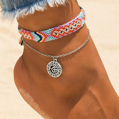 Two-Piece Summer Anklets